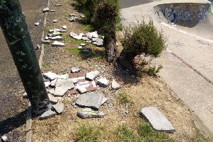 Some of the damage at Hastings' outdoor skate park SUS-191106-145348001