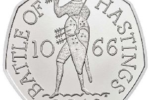 The Battle of Hastings 50p was first issued in 2016
