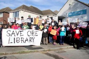 Save Ore Library demonstration. Photo by Roberts Photographic.