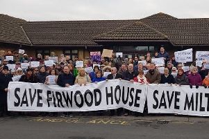 A protest against closing Milton Grange and Firwood House. Although the former was spared, the latter was not