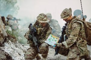 British Army soldiers in action on operations. Photo: Shutterstock