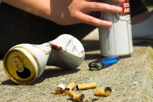 ANTI-SOCIAL BEHAVIOUR - Teenagers drinking alcohol and smoking on the streets