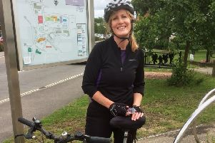 Lisa Hector, general manager at Link to Hope, is recruiting riders for the Downslink Cycle Challenge