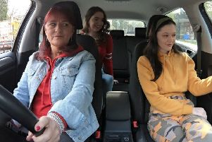 "Jane Lemon, daughter Susi and niece Rachel took part in an episode of ""Teen Taxi""."