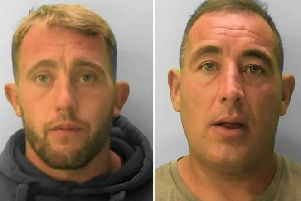 Gary Lee Field (left) and Kevin William Barden (right). Photo courtesy of Sussex Police. SUS-190723-153413001