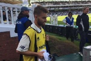 Nick Oxley was 12th man for England at Lord's last summer