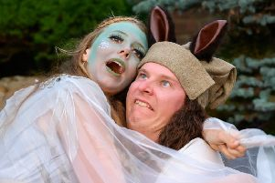 Titania and Bottom in A Midsummer Night's Dream. Picture by Peter Mould