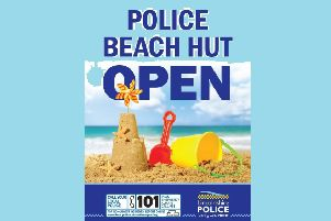 Police officers in Mablethorpe now have a dedicated spot on the town's seafront from which they can engage with the public during the busiest season of the year EMN-190726-093635001