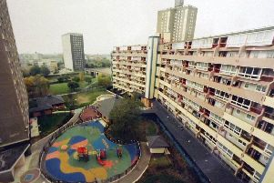 High rise flat in Somerstown called Cannock Lawn, although there was little lawn to be seen. Photo: John Taylor collection.