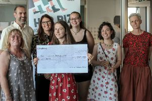 Jessica pictured with some of the other women on the Her Biz Hastings programme