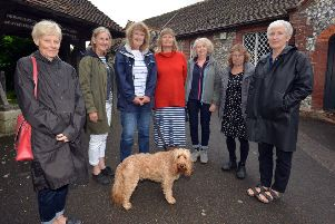 Members of the Rodmell and Ouse Valley Collective. Photo by Peter Cripps
