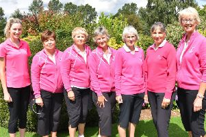 Rugby's team who have reached the final of the Warwickshire League - Phoebe Anderson, Sue Jones, Sandra Brazier, Deb Harrad, Linda Long, Karen Cowell and Judith Pegler