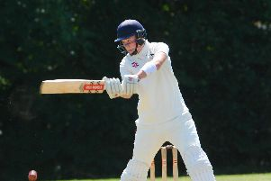 Archie Cairns hit the winning runs off the final ball as Findon avoided Division 3 West relegation. Picture by Stephen Goodger