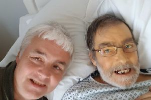 Dave Smith (left) with his brother James Oliver just 12 hours before James died. Picture supplied by Dave Smith