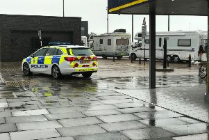 Travellers have arrived at the Stade in Hastings
