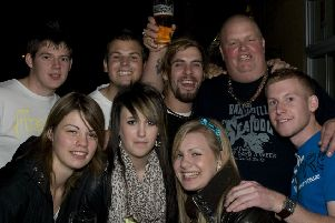 Having fun at the first-ever Wrangle Beer Festival, 10 years ago.