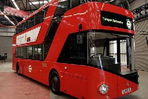 The famed 'Boris Bus' made by Wrightbus for London Transport.