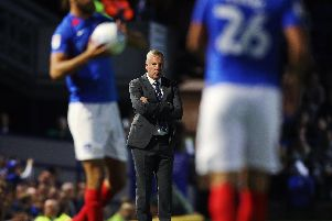 Portsmouth manager Kenny Jackett at last night's game at home to Burton Albion. Picture: Joe Pepler / PinPep Media
