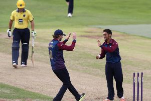 Saif Zaib (right) is staying at Northants
