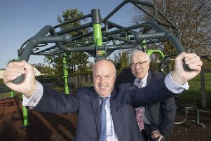 Alderman James Tinsley, Chair of the council's Leisure & Community Development Committee with Alderman Allan Ewart MBE, Chair of the council's Development Committee and Chair of Lagan Rural Partnership Local Action Group