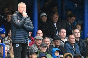 Pompey boss Kenny Jackett during Saturday's goalless draw against Gillingham  Picture: Adam Hunt