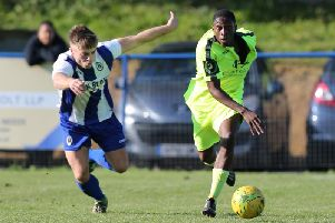 Lanre Azeez. Haywards Heath Town v Hastings United. Picture by Scott White