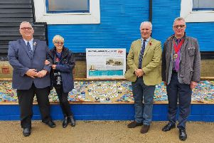 Dedication of the Mary Stanford Lifeboat Pebble Memorial at Rye Harbour RNLI. Photo by Kt Bruce. SUS-190411-114927001