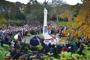 Remembrance Service in Alexandra Park