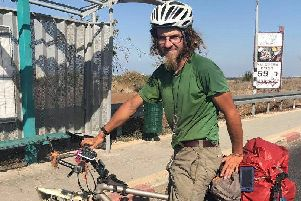 Oliver McAfee from Dromore in Co Down has gone missing while on a cycling trip around Israel.