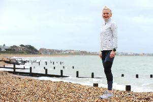 Tina Chantrey (48) from Lee-on-the-Solent, found an escape in running. Picture: Sarah Standing (221119-2758)