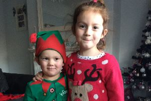 Rocco with his sister Valentine-Rose. Picture: Stroke Association