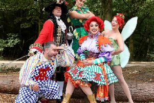 The cast for this year's panto, Peter Pan, at Aylesbury Waterside Theatre