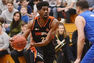 Recent Storm signee TrayVonn Wright led all scorers against Leicester Warriors with 25 points on Saturday. (Picture by Lin Titmuss).