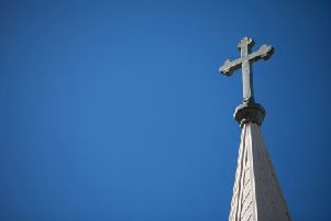 Church Steeple and Cross