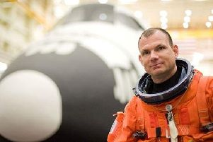 NASA space shuttle pilot, Tony Antonelli, visited Portsmouth to talk about his time in space.