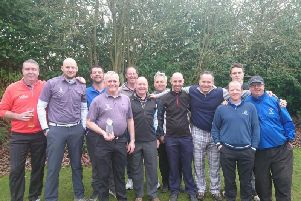 The Whitefields Avon League team (from left): Greg McBain, Andy Duke, Paul Wilcox, Captain Gary Burdett, Alan Prentice, Mark Ritchie, Richard Hadley, Paul Riches, Andy Gall, Pete McKintosh, Zak Smith and Ritchie Gray