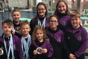 Members of Luton Diving Club who attended the Armada Cup