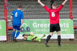 Tring Athletic's Jon Clements, right, picked out some quality passes against Baldock Town on Saturday.