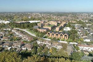 A computer-generated image of what the homes at Havant's civic campus could look like. Picture: Homes England