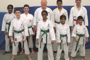 The successful SSKI candidates with the chief instructor Malcolm Phipps at Hemel Hempstead School last month.