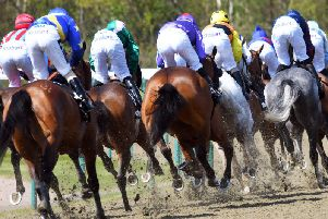 Action on all-weather finals day at Lingfield / Picture by Malcolm Wells