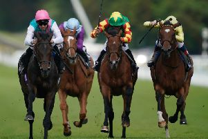 Mirage Dancer, far left, on the way to winning the Tapster Stakes / Picture: Alan Crowhurst / Getty Images
