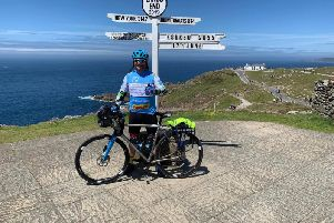 Kenny Smith at Land's End, Cornwall