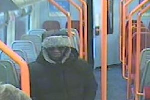 Footage shows Darren Pencille and the victim on the train in the moments leading up to the stabbing