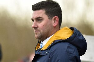 Loughgall manager Dean Smith.
