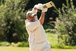 Jimmy Carter on his way to a fine 63 against Ward End Unity