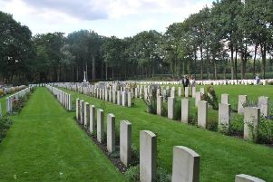 The huge Commonwealth Cemetery at Bergen-op-Zoom