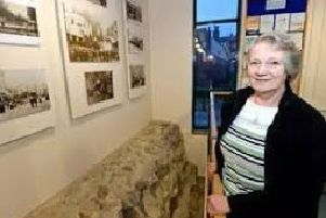 Sheila Jonkers - one of the leading figures in the ongoing bid to preserve Horncastle's Roman Wall