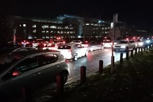 Gridlock pictures taken by Chronicle & Echo staff at rushhour on Pavillion Drive on November 6.