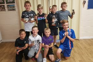 The under 11s prizewinners, back row from left, were Ben Price, Reece Pemberton,Toby Cotton, Henri Harness, front row, Harry Masters, Henry Price, Ben Eagles, Nathaniel Sutcliffe.